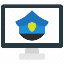 anti, cybercrime, internet, online, police icon