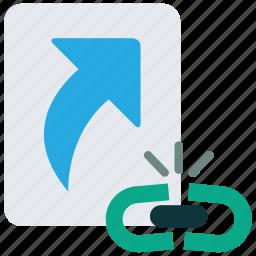 broken, file, hyperlink, link, shortcut, url icon