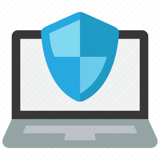 computer, laptop, protected, protection icon