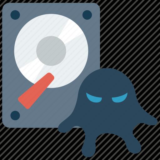 data, database, infected, infest, virus icon