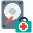 data, document, file, hard disk, rescue icon