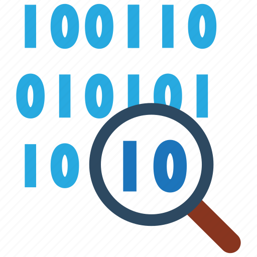 bit, byte, code, data, search icon