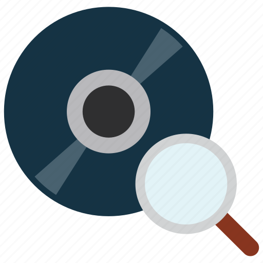 cd, disc, dvd, scan, search icon