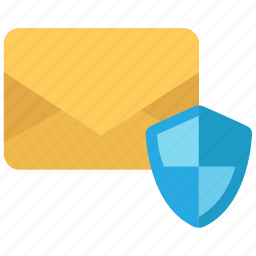 email, envelope, message, protection icon