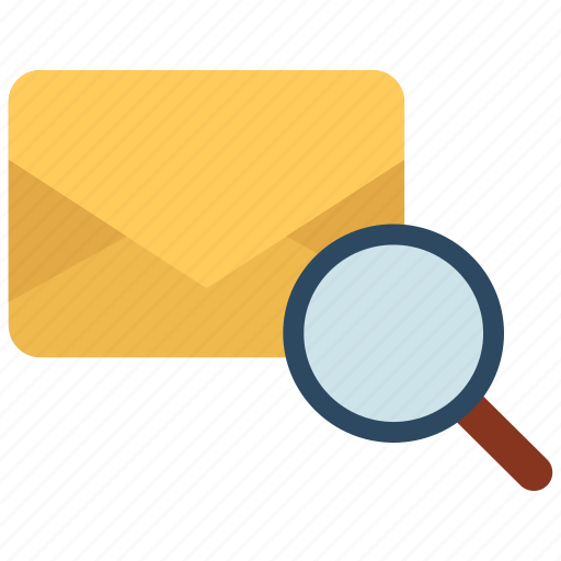 email, find, letter, mail, scanning, search icon