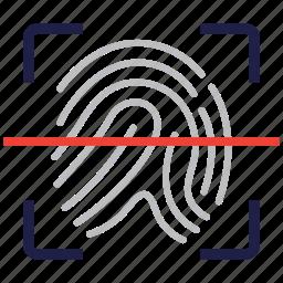 biometric, fingerprint, identification, identity icon