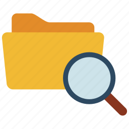 files, find, folder, scan, search icon