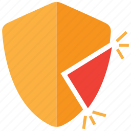 crack, cracked, gap, gaps, security, unsecure icon