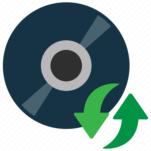 cd, disc, software, update icon