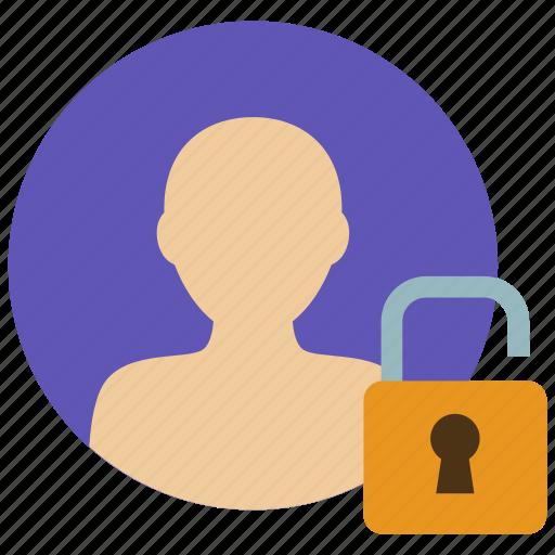 account, profile, unlocked, user icon