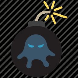 attack, bomb, explode, virus icon
