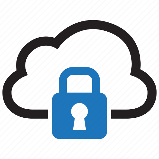 cloud, data, file, lock, protection, security, storage icon