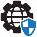 browser, cybersecurity, global, internet, security, settings, technology icon