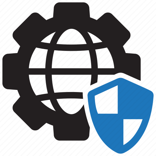 cybersecurity, internet, security, settings icon