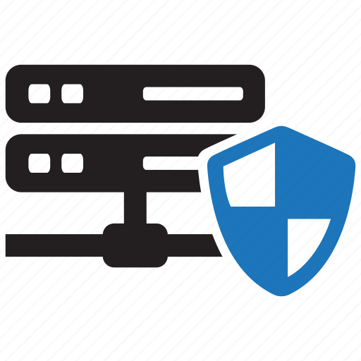 database, file, folder, network, secure, security, shield icon