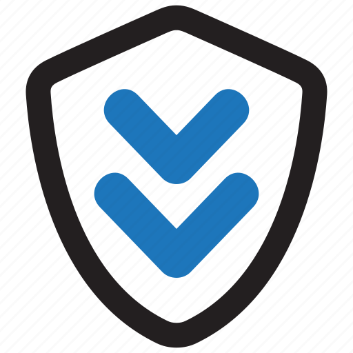 download, protected, shield, update icon
