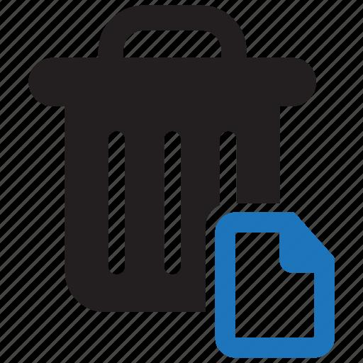 Bin, delete, empty, full, garbage, recycle, recycle bin ... |Delete Trash Button Icon