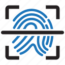biometric, finger, fingerprint, id, identity, scan, touch icon