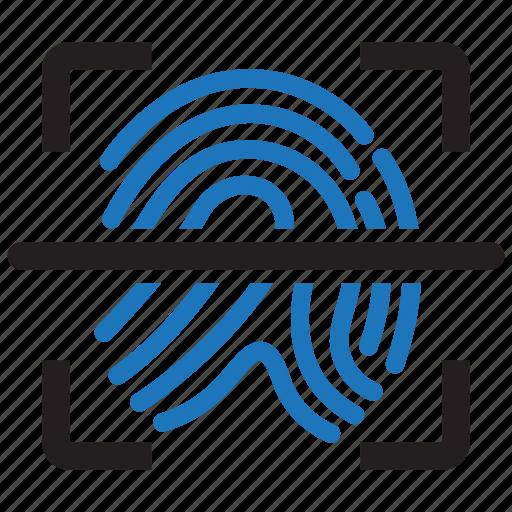 biometric, finger, fingerprint, id, identity, scan, touch icon