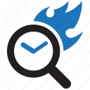 express, fire, flame, quick, scan, scanner, search icon