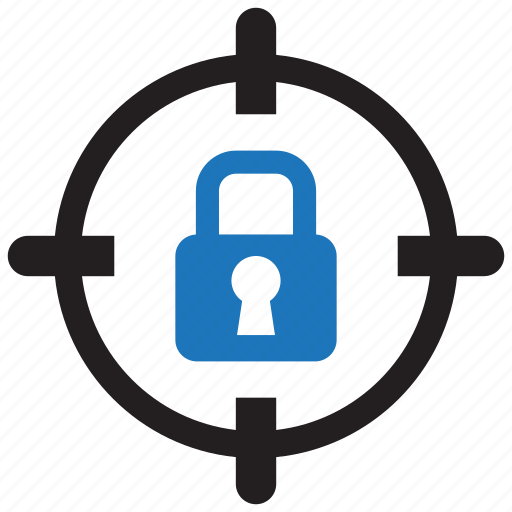 aim, goal, lock, locked, password, security, target icon