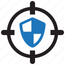 aim, protect, protection, safety, secure, shield, target icon