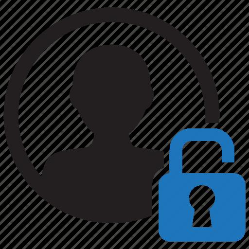 account, avatar, person, profile, unlock, unlocked, user icon