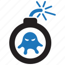 bomb, bug, explode, malware, virus icon