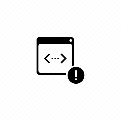 api, code, error, program, script, warning icon