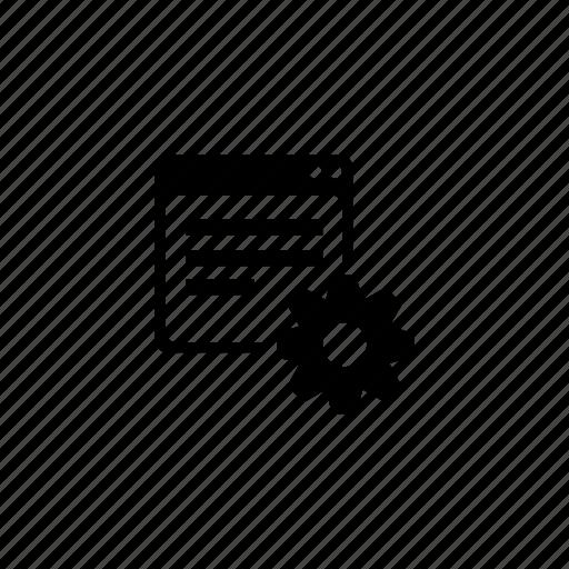 api, gear, program, settings, window icon