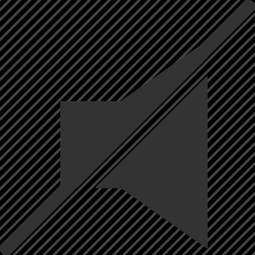 mute, silent, sound, speaker, volume icon
