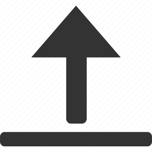 arrow, direction, go to top, navigation, up, upload icon
