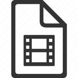 extension, file, format, movie file, multimedia, multimedia file, video icon