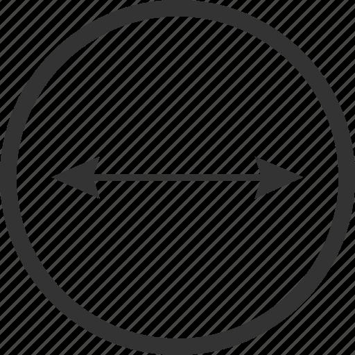 caliber, calibre, diameter, measure, radius, scale, size icon