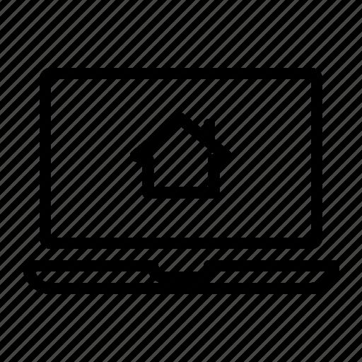 laptop, property, sale, web, website icon