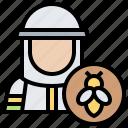 apiarist, beehive, beekeeper, uniform, worker icon