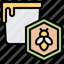 apiary, bee, bucket, honey, honeycomb icon