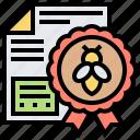 bee, beehive, beekeeper, certificate, honeycomb