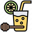 honey, juice, lemon, lemonade, soda icon