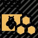 apiary, bee, beeswax, drug, honey icon