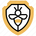 badge, bee, protection, security, shield