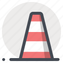 pylon, road blocker, sign, signal, tool, warning, work in progress icon