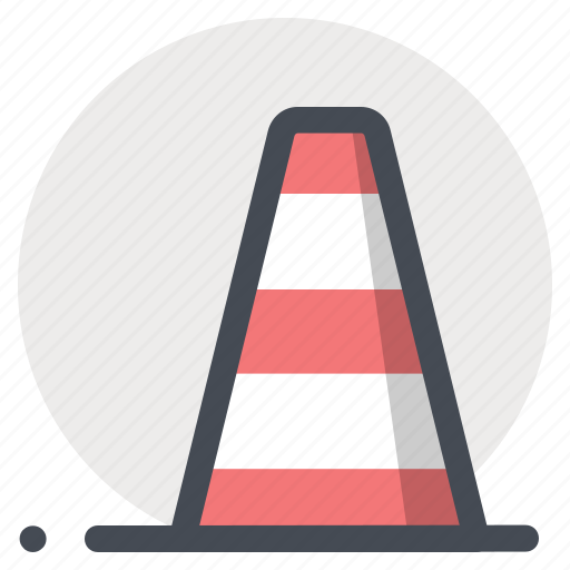pylon, road blocker, sign, signal, tool, warning, work in progress icon