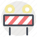 construction, road blocker, sign, signal, tool, warning, work in progress icon