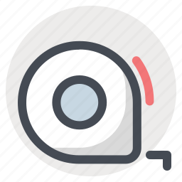 building, construction, measur, measuring tape, repair, scale, tape icon
