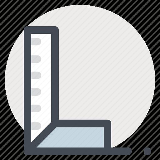 building, construction, equipment, measure, measurement, ruler, scale icon