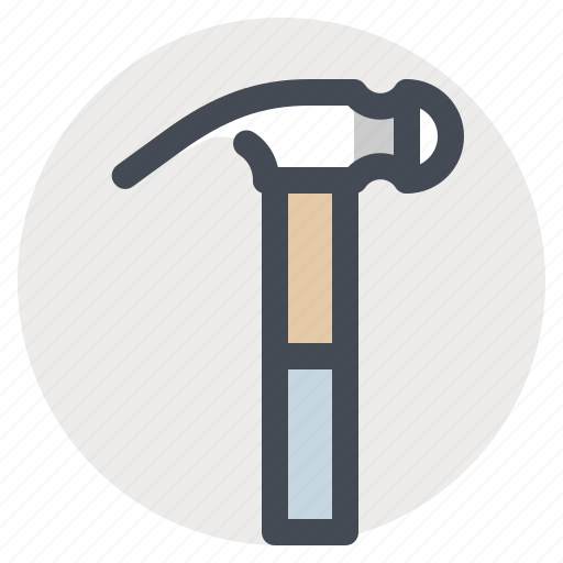 building, construction, hammer, hand tool, house, paint, repair icon
