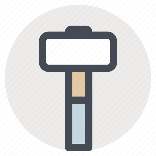building, construction, hammer, hand tool, mallet, repair, tool icon