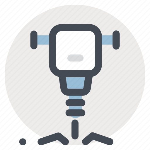 construction, electrical tool, hammer breaker, hand drill, hand tool, repair, work icon