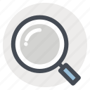 building, construction, find, magnifier, search, tool, zoom icon
